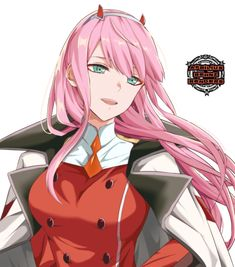 Zero Two (Darling in the FranXX) Image - Zerochan Anime Image Board Zero Two, Darling In The Franxx, Kawaii Girl, Animation Film, Yandere, Boku No Hero Academia, Best Funny Pictures, Neko, Science Fiction