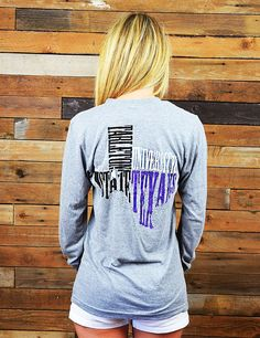 Rock the Texas Shape while showing your love for Tarleton State University in this new TSU long sleeve t-shirt! Go Texans!