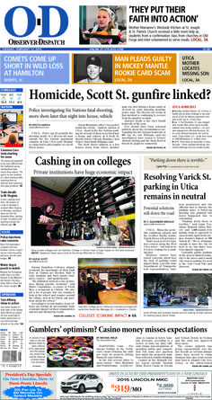 The front page for Tuesday, Feb. 17, 2015: Cashing in on colleges