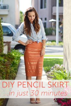 Fall Wardrobe Staple: 30-Minute DIY Pencil Skirt