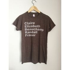Outlander Claire Fraser Ladies Tshirt ($24) ❤ liked on Polyvore