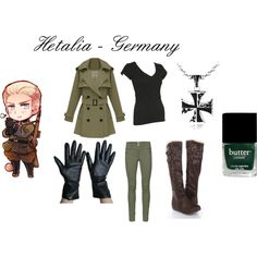 """Hetalia Germany - Casual Cosplay"" by ak-hamilton on Polyvore"