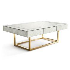 Modern Furniture | Delphine Mirrored Cocktail Table | Jonathan Adler