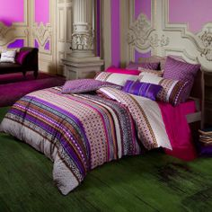Modern Bedding Sets | Luxury Purple Bedding from Kas at Bedeck Home ~ UK Based Company