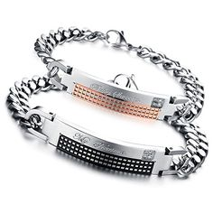Plaid, Personalized Items, Amazon, Couples, Bracelets, Stainless Steel, Man Women, Gingham, Amazons