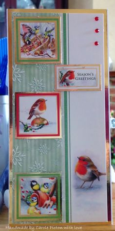 Christmas Card (148) DL - Hunkydory 'Little Robin Redbreast' Card