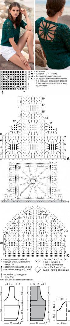 agujas de tejer suéter con patrón de filigrana en la parte posterior
