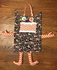 Monster Halloween Trick or Treat bag- perfect size for tiddlers