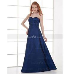 DORIS - Bridesmaid Cheap A-line Floor length Taffeta Sweetheart Wedding party dress