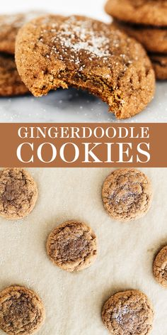 The perfect combination of snickerdoodle and gingersnap, these easy homemade Gingerdoodle Cookies are puffy, chewy and soft and filled with warm spices. Make ahead recipe included so you can gift these during the holidays or Christmas! Christmas Desserts Easy, Holiday Cookie Recipes, Easy Cookie Recipes, Brownie Recipes, Baking Recipes, Dessert Recipes, Candy Recipes, Holiday Treats, Christmas Recipes