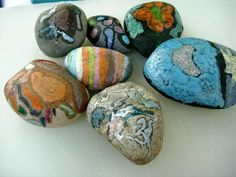 """Hot Rocks! Great Auction Project for Classroom. Each kid """"colors a hot rock"""" at home & brings it to school. Place rocks in one large glass container. Class Auction Project done!"""