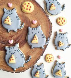 pusheen pizza cookies