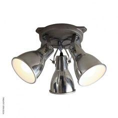 Stirrup triple ceiling light aluminium by original btc
