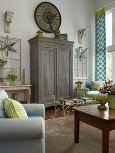 armoire ~ love the painted finish