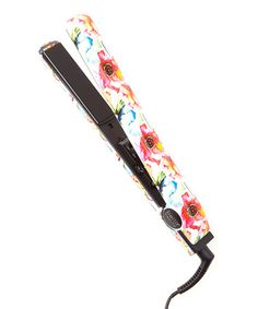 Watercolor Floral 1'' Ceramic Flat Iron & Pouch #zulily #zulilyfinds