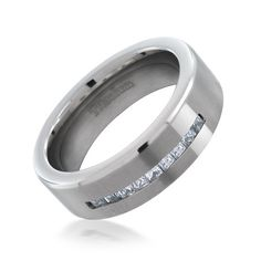 Titanium Ridged Edge Black Enamel Braid Design 6mm Wedding Ring Band Size 6.50 Harmonious Colors Engagement & Wedding
