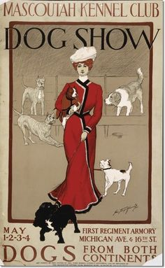 Morris, George Ford, artist - Mascoutah Kennel Club dog show. Dogs from both continents        /         Geo. Ford Morris 01. Print