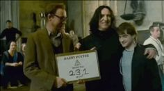 Snape getting cozy with Lupin and Harry: I've probably pinned this a hundred times, yet I keep doing so, it's just too adorable for me to stop. Goodness!