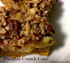 She Loves Wine: Pumpkin Crunch Cake
