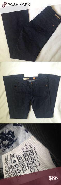 "Pilcro and the Letterpress flare Jeans Pilcro and the Letterpress Jeans. Deep blue wash inseam 30"" waist 15"" flare leg 10"" Anthropologie Jeans Flare & Wide Leg"