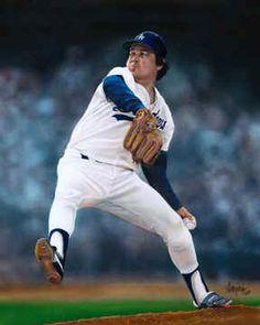 Los Angeles Dodgers Fernando Valenzuela Baseball Poster Print