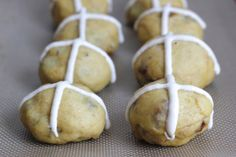 Hot Cross Buns with Saffron, Cardamom and Mahlab