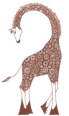 Giraffe Art Print by PiqueStudios   Society6