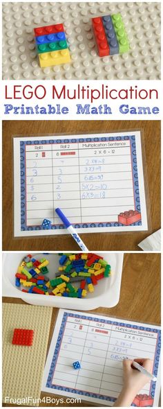 LEGO Multiplication Mats! Awesome ideas to use LEGOs to teach multiplication to older kids!