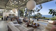 Natalie Portman's Totally Cool New Montecito Home + photos] – if it's hip, it's here Indoor Outdoor Living, Outdoor Dining, Roll Up Doors, Margaret Thatcher, Cool Roof, Design Strategy, Jane Fonda, Mamma Mia, Meryl Streep