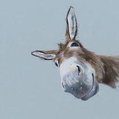 Barn Animals, Animals And Pets, Cute Animals, Funny Animals, Donkey Drawing, Cute Donkey, Animal Paintings, Goat Paintings, Smoke Art