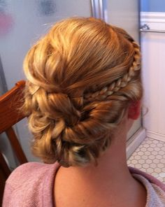Medium Brunette Homecoming Hairstyle