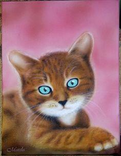 Kitty on canvas
