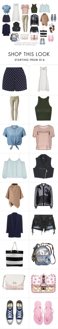 """a summer capsule wardrobe"" by jessicaahn ❤ liked on Polyvore featuring Zizzi, CÉLINE, Hudson, Topshop, Miss Selfridge, ONLY, Elizabeth and James, Bebe, 3.1 Phillip Lim and Pinko"