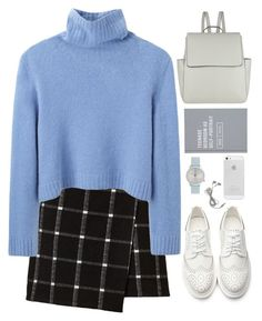 """First day of school."" by mskaterina ❤ liked on Polyvore featuring The Row, John Lewis, Komono, school, white, simple and sweaterweather"