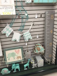 So in love with hobby lobby! They have so much to decorate baby's room with!! Elephants and giraffes! What will i do?!
