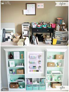 Home Office Makeover Reveal | Ideas for #homeoffice | Design | Decoration | Desk | Organization |