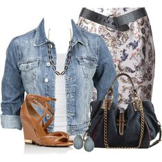 Denim Jacket, created by daiscat on Polyvore