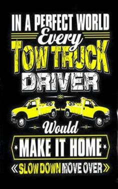 """/""""SAVE A TOW TRUCK OPERATOR/'S LIFE SLOW DOWN /& MOVE OVER/"""" driver STICKER safety"""