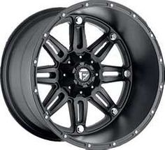 Buy MHT Fuel Offroad Wheels Hostage Deep, with 8 on Bolt Pattern - Bl at online store Custom Wheels And Tires, Rims And Tires, Rims For Cars, Car Wheels, Black Rims, Black Wheels, Matte Black, Fuel Rims, 24 Rims