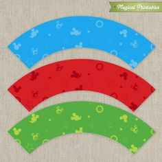 Disney Mickey Mouse Clubhouse Printable Birthday Cupcake Wrappers