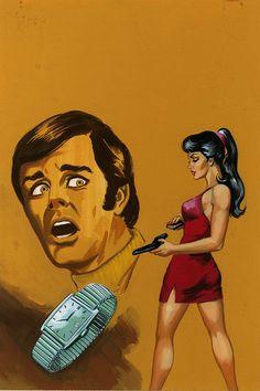 Original '80s Mexican Pulp Illustration Art Painting Bold Betrayal & Death Scene | Collectibles, Comics, Original Comic Art | eBay!