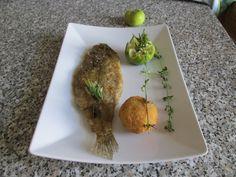 JHS /  Comme Sole meunière plus de pommes de terre croquette au basilic Gino D'Aquino