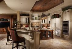 mediterranean kitchen by Don Stevenson Design