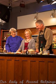 Baking Cardamom Whiskey Pear Crisp on KCTS Cooks Just Desserts | Our Lady of Second Helpings