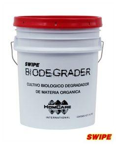 Biodegrader: Sistema degradador de materia orgánica y fecal a base de microorganismos. Sus componentes provocan una reacción química generadora de enzimas que rompen las moléculas de dichas materias, degradándolas y eliminando los olores desagradables.