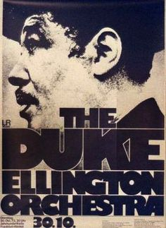 The Duke Ellington Orchestra #ConcertPoster