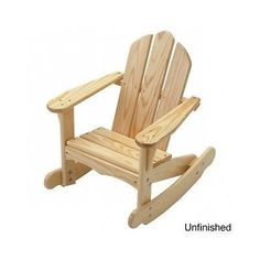 Adirondack Rocking Chair Kids Chairs Toddler Pine Wood Children Indoor Outdoor Product Description: With the tip over bumpers and rounded edges increase safety for children, this pastoral and handsome