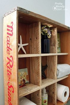 With this tutorial, you can create a piece of furniture that is not only attractive, but useful for storage as well! This crate display shelf will look great in any room of your home.