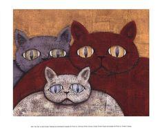Framed Sun Cats Print