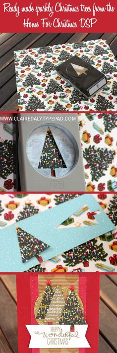 I was playing around creating with a couple of friends during the week (my favourite kind of day) and I was super excited to discover this little trick for some quick and easy Christmas cards. One of the designs in the Home for Christmas DSP is perfect for using with the Stampin' Up! Tree punch to cut out pre-decorated Christmas trees. All you need to do is add your desired decoration on top and some extra sparkle if you like. You can find any of the products I have used in today's post by…